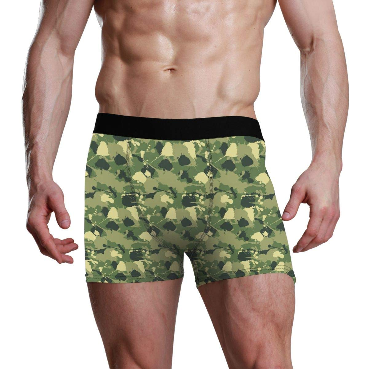 Mens Boxer Briefs Camo Accessories Olive Green Underwear Boxers for Men Soft Underpants