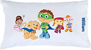 Personalized Super Why! Pillowcase, Pals & Pup on White Cover, Official Licensed Product, 20x31, STD/Queen