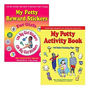 Potty Training Girls Books Kit - Stickers and Coloring Book