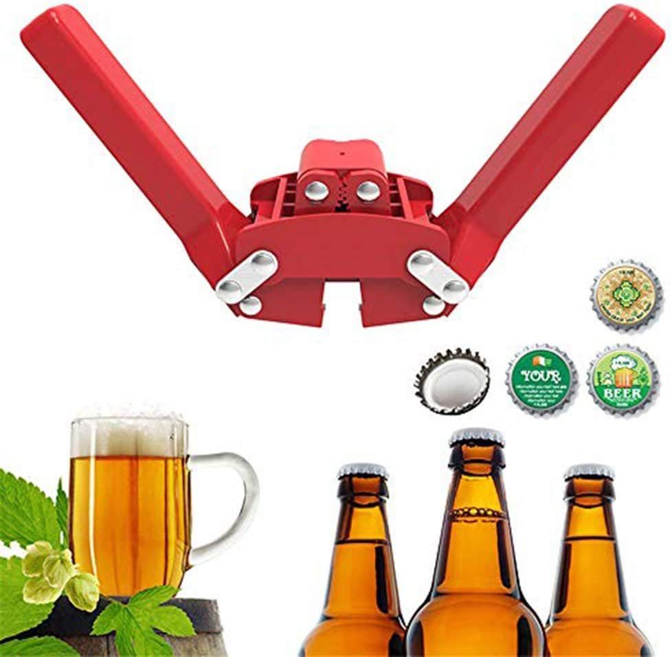 YGMX Manual Botella Doble Palanca Cerveza Corona Capper Capper Sellado De La Botella De Cerveza Home Brewing Fácil Cap A