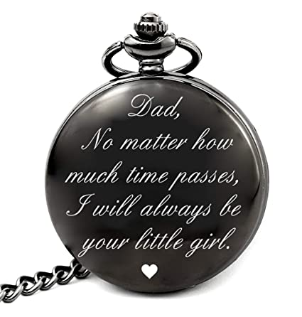 LEVONTA Dad Birthday Gifts From Daughter Unique Daddy Gift Ideas For Christmas Fathers Day Pocket Watch Girl Roman