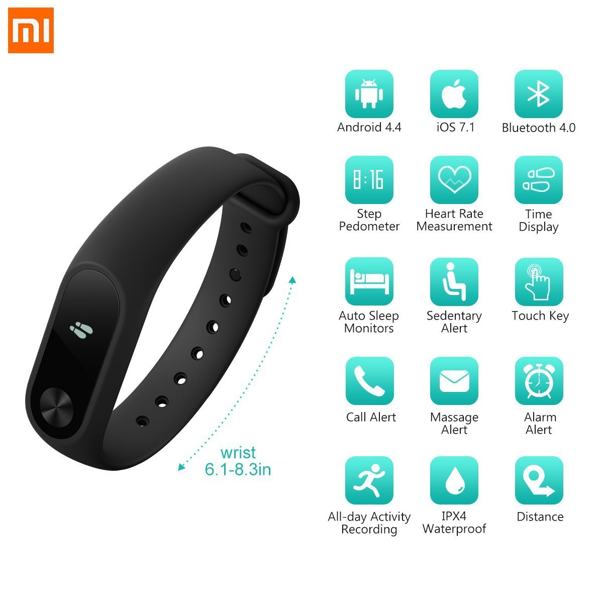Fitness Tracker Original Xiaomi Mi Band 2 With Heart M2 Bluetooth Smart Bracelet Look Rate Monitor Wristband And Oled Display For Women Kids Men Waterproof Watch Pedometer