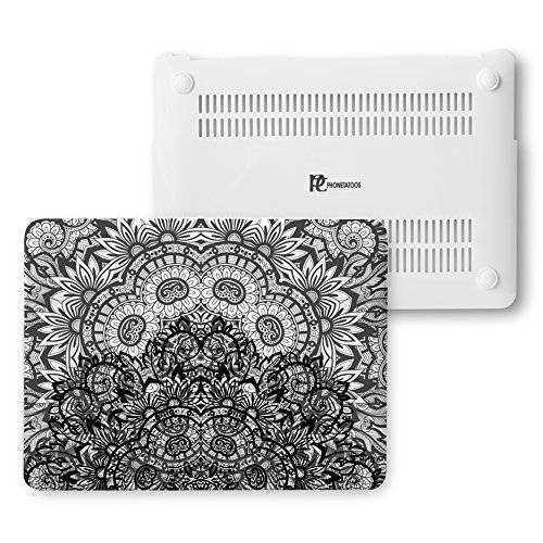 MacBook Air 13 inch Case- Laptop Protective Hard White Plastic Cover Compatible Apple- Fits on Model A1466 & A1369 2015 (Double Lace) by PhoneTattoos