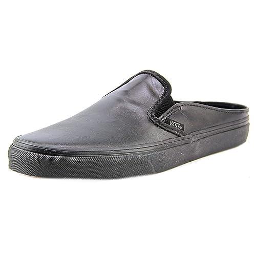 4cb90dee42cc38 Vans Classic Slip-On Mule Leather Black Ankle-High Fashion Sneaker - 11M
