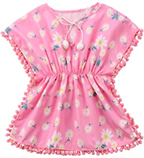 71d904d4ed3 Amazon.com  Little Me Baby Girls  UPF 50+ Short Sleeve Hooded Cover ...