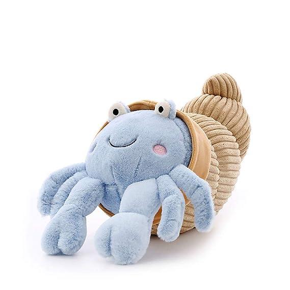 GJC Almohada Mar Animal Peluche Juguete Creativo Cangrejo Muñeca Dibujos Animados Almohada Novia Regalo De Cumpleaños,Blue,35CM: Amazon.es: Hogar