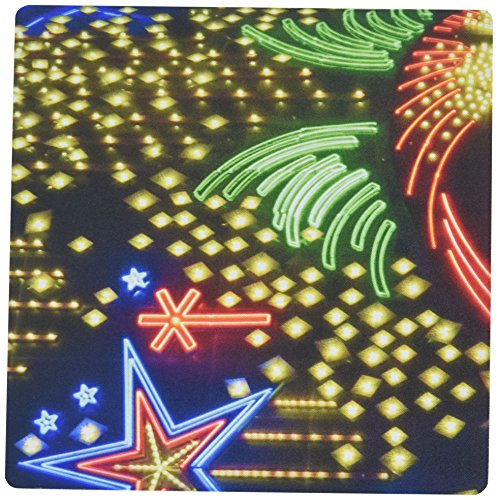 Price comparison product image 3dRose LLC 8 x 8 x 0.25 Inches Mouse Pad, The Lights On The Billboard At The Riviera In Las Vegas On The Strip (mp_185512_1)
