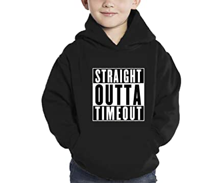 fc7b6a358 Amazon.com: HAASE UNLIMITED Straight Outta Timeout Hoodie Sweatshirt ...