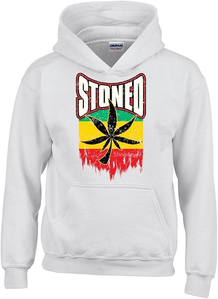 shop4ever marihuana Pot Leaf Sudaderas con capucha Weed Funny Apparel sudaderas