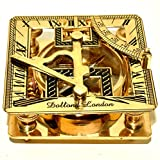 Nautical Brass Sundial Compass Marine Working Compass Pocket 2 Pieces