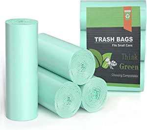 Trash Bags Small 1.2 Gallon , AYOTEE Mini Compostable Bathroom Wastebasket Can Liners GarbageBags for Home Office Kitchen fit 5 Liter 5L,1 Gal,75count