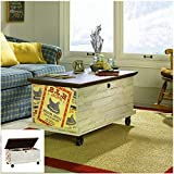 Chest with Wheels Coffe Table with Storage Unique Graphic end Panels Cart Table Ottoman Mobility Living Room Decoration Home Furniture Βench & eBook by BADA shop