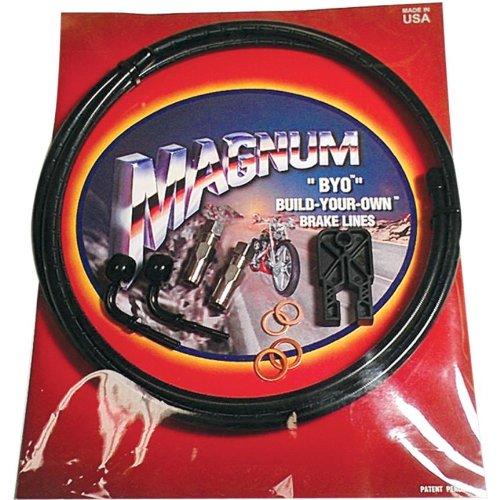 Magnum BYO Build-Your-Own DOT Single Disc Brake Line Kit with 6ft Brake Line - 35 Deg Banjo - Black 496135A (Build Your Own Side By Side Kit)