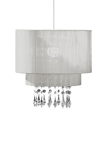 df9a1c6980e Chandelier Chic Ceiling Light Pendant Shade Crystal Droplet Fitting Easy Fit   (LARGE METAL SHADE ...