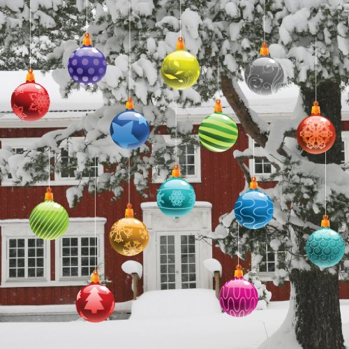 Christmas Yard Decorations - Traditional Hanging Christmas Ornaments