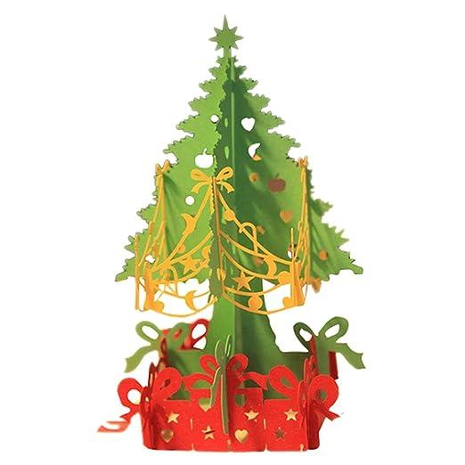 Hrph 3D Merry Christmas Tree Tarjetas de felicitación Postales de cumpleaños Mensaje de tarjeta de regalo tarjeta de la acción
