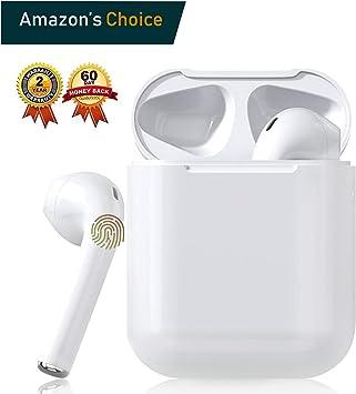 Oferta amazon: Auricular Bluetooth 5.0, Auricular inalámbrico, micrófono y Caja de Carga incorporados, reducción del Ruido estéreo 3D HD, para Auriculares iPhone/Android/Apple Airpods Pro/Samsung/Xiaomi