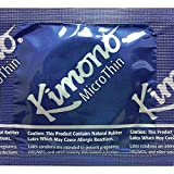 Kimono Microthin Premium Lubricated Ultra Thin Latex Condoms and Silver Pocket/Travel Case-24 Count