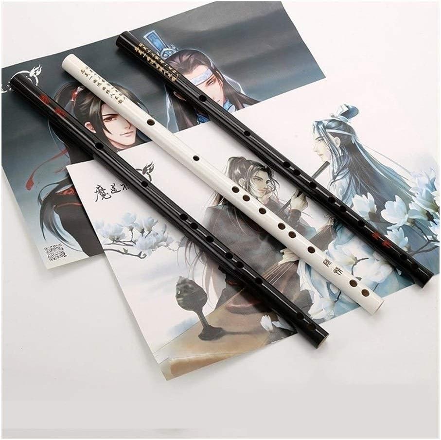 Flauta De Bambú E F G Clarinete Instrumento Flauta Blanco Negro ...