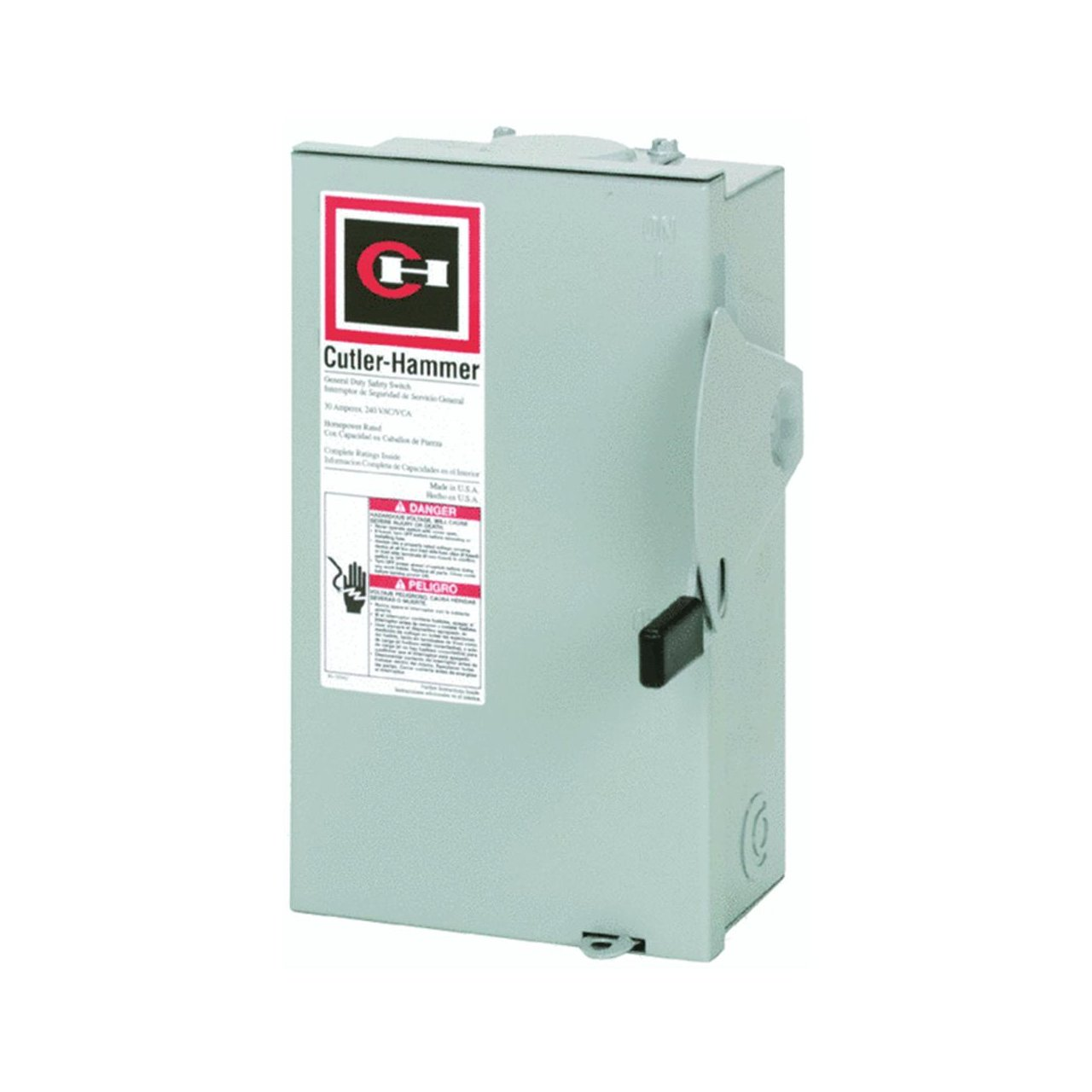 Eaton Corporation Dg221Nrb Outdoor Safety Switch, 120/240V, 30-Amp ...