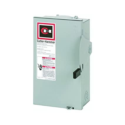 Eaton Corporation Dg221Nrb Outdoor Safety Switch, 120/240V, 30 Amp