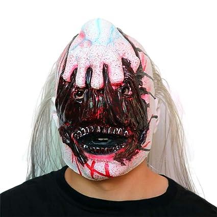 Moolo Halloween Máscara Máscara Fantasma Zombie Cabeza látex, Resident Evil Halloween Horror Disfraz Scary Devil