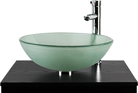Salle de bain Lavabo Lavabo Vasque bol en verre dépoli ...