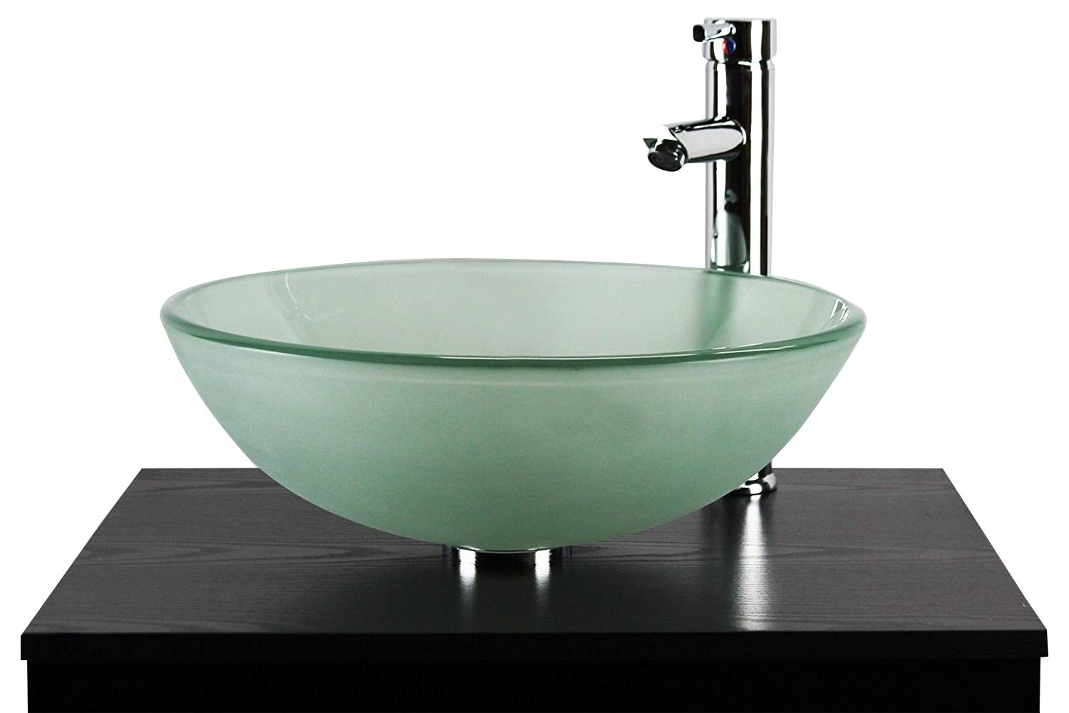 BATHROOM CLOAKROOM COUNTERTOP FROSTED GLASS BOWL BASIN SINK