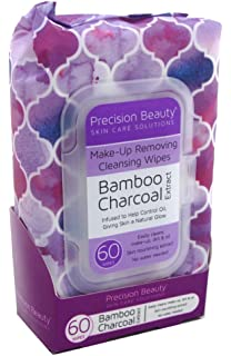 Precision Beauty Make-Up Remover Bamboo Wipes 60 Count (6 Pack)