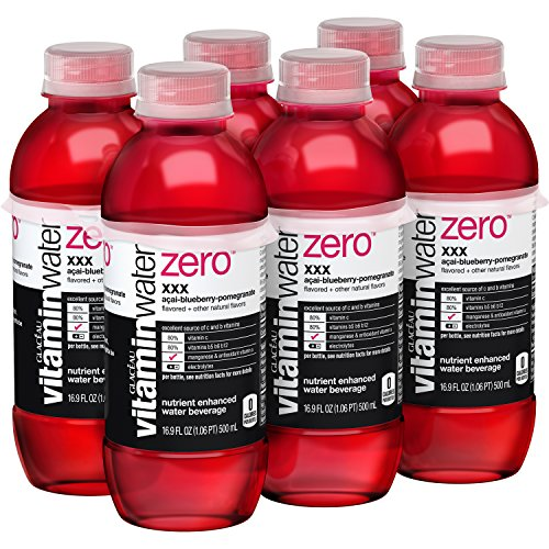 vitaminwater zero XXX, 16.9 fl oz, 6 Pack