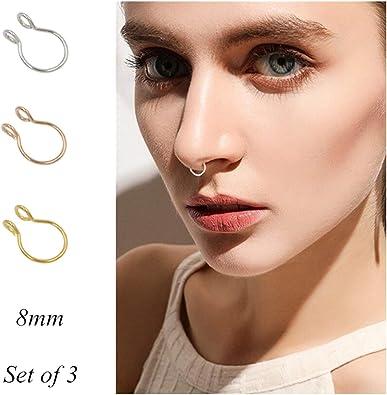 Amazon Com Fake Septum Nose Ring Fake Nose Rings 20g Hoop Nose