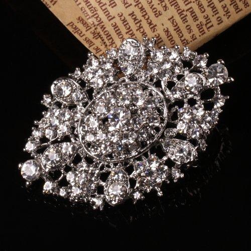 Rhinestone Crystal Wedding Bridal Bouquet Flower Brooch Pin 1PC KF12