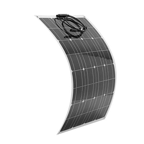 80W 12V Sunpower ETFE Mono Flexible Solar Panel Battery Charger For Home RV Car