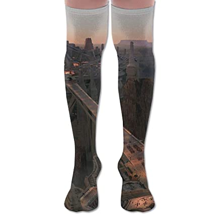 Amazon Com Lkjh City Bridge Concept Art Unisex Socks