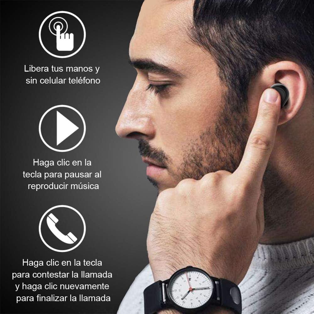 HOMSCAM Auriculares inalámbricos QCY Bluetooth 5.0 Sonido Estéreo Mini