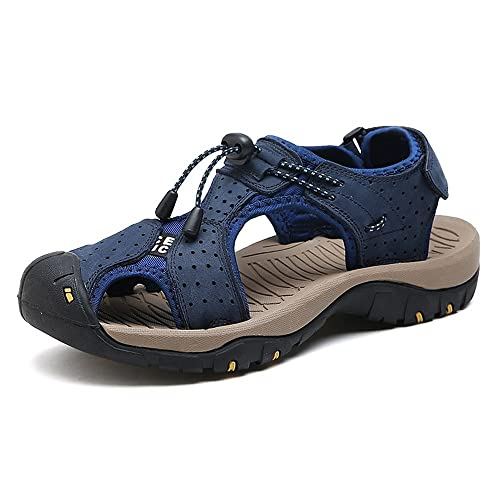 Hombre Playa Genuino Zapatillas Cuero De Para 5TuKcl3F1J
