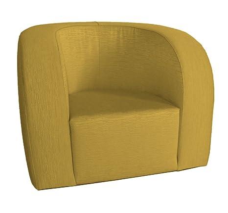 Arketicom Luna Senior, Confortable y Ligera Butaca Contemporanea en Poliuretano, Tapizado a Mano en