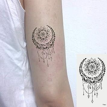 Oottati 2 Hojas Pequeño Lindo Tatuaje Temporal Tattoo Flor De ...
