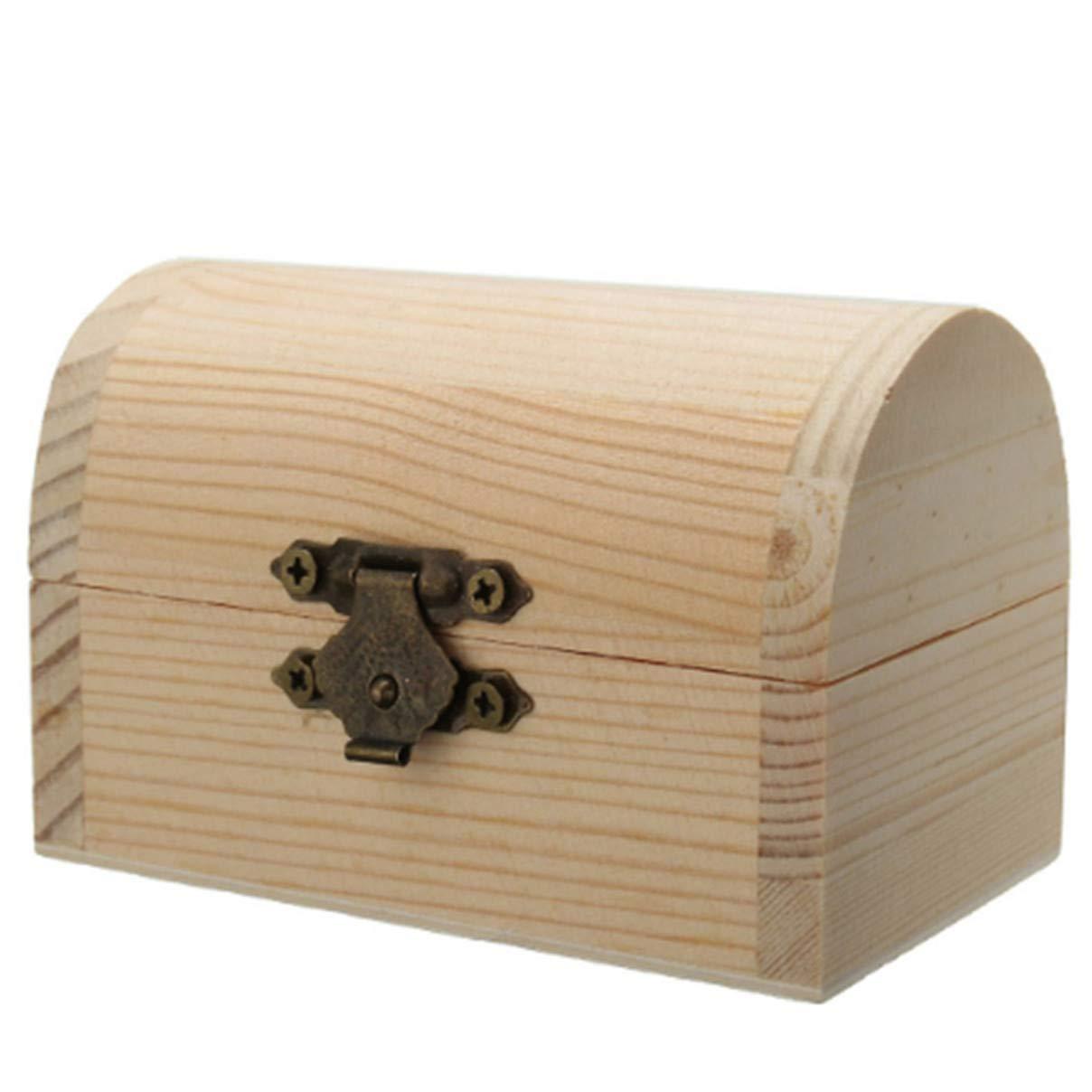 Essencedelight Storage Case Wooden Box Jewelry Case Ring Necklace Holder Gift Light Storage Box Organizer Decorate for Girls