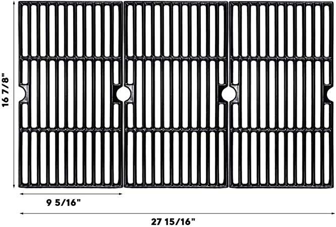 463436214 461442513 T480 Gas Grill Models 463420512 463436213 4362436214 Master Chef 85-3100-2 Stainless Steel Cooking Grid for Charbroil 463420510 G43205 and Kenmore 463420507 Set of 3 463420510 85-3101-0 463420511