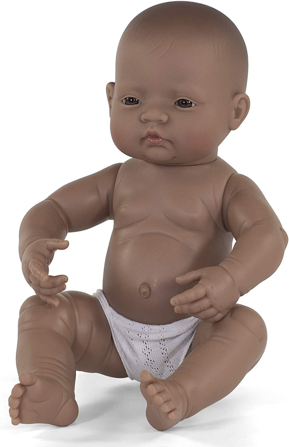 African-American Girl Miniland 15 Anatomically Correct Baby Doll