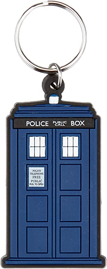 Dr Who inspired Clara The Impossible Girl hand stamped keychain