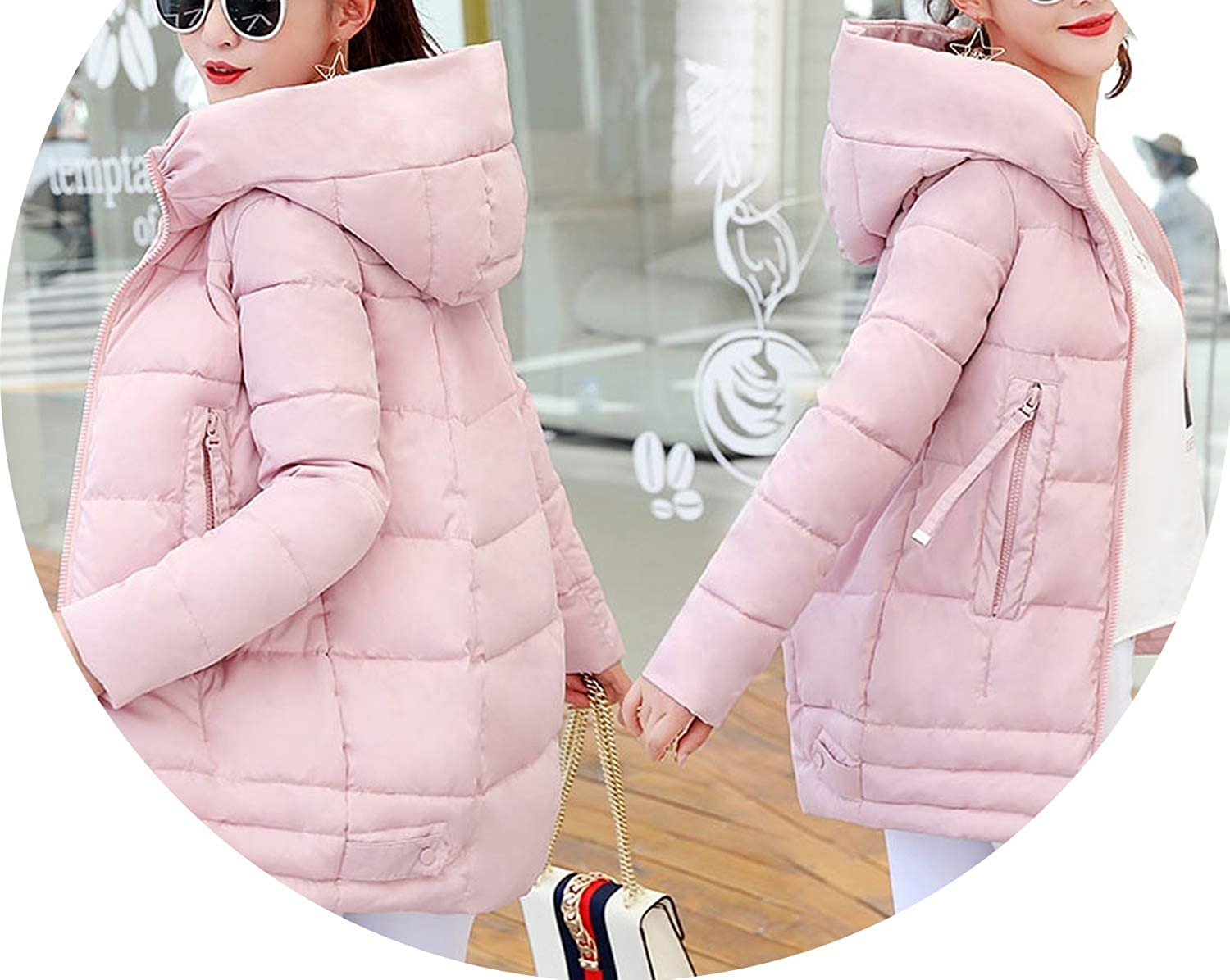 Barry-Story Cotton Coat Irregular Winter Jacket Women Plus Size Womens Parkas Thicken Outerwear Solid Hooded Coats