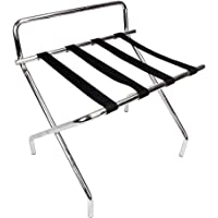 Crazyworld Portable Stainless Steel Luggage Rack Heavy Duty With  Backrest,for Suitcase Prime,for