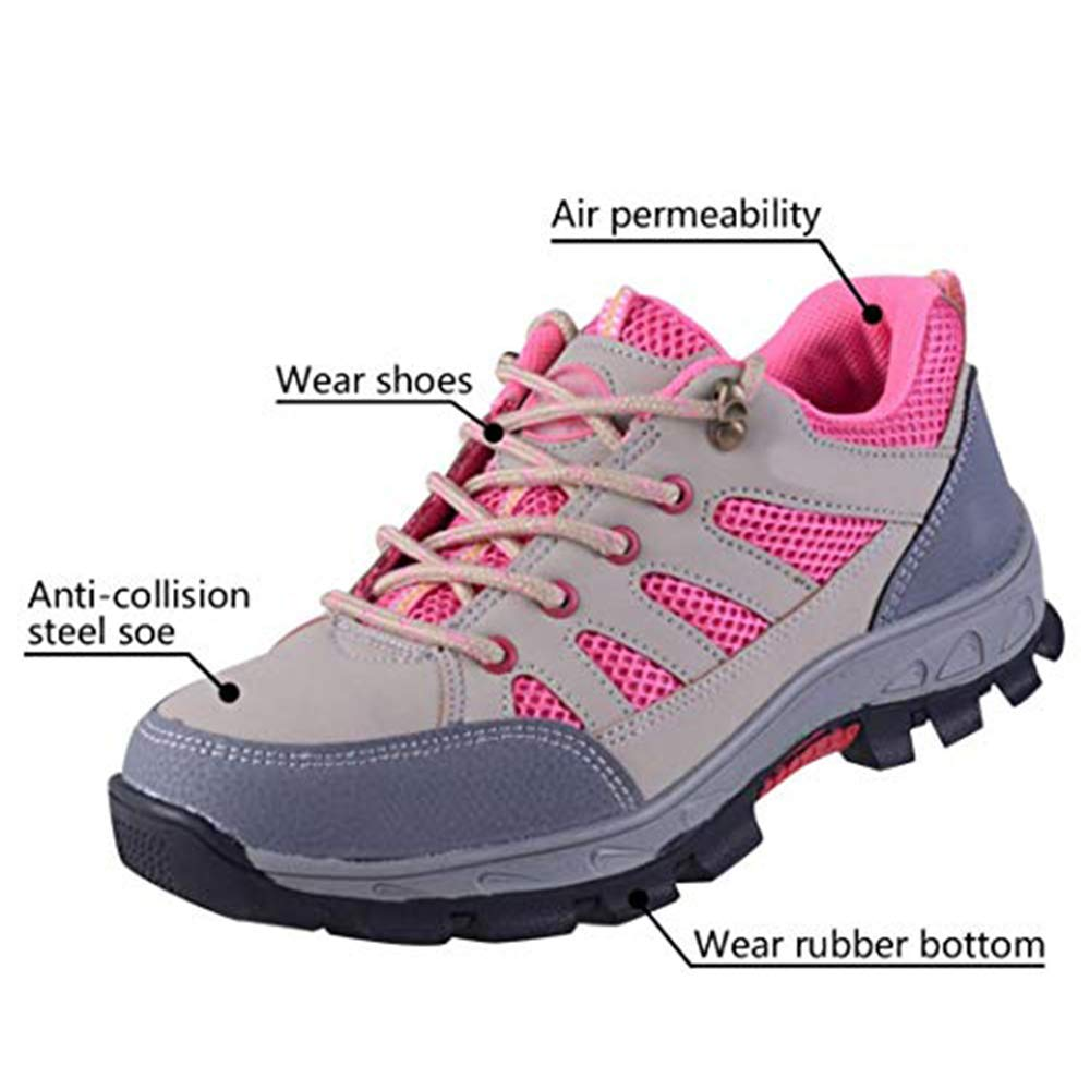 Work Shoes Breathable Industrial Construction Non Slip Puncture Proof Composite Safety Toe Shoes SUADEX Steel Toe Shoes Men Women
