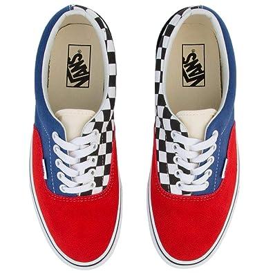 66343432ba9 Vans Era Mix-Match Navy Red Mult
