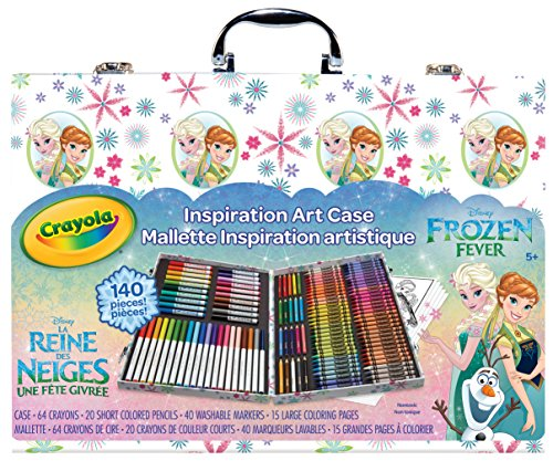 Crayola Frozen Inspiration Art Case, 140 Pieces, Art Set, Gifts for Kids and Adults (Set Frozen)