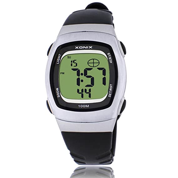 Niños reloj luminoso retro led multifunción impermeable estudiante reloj digital-C