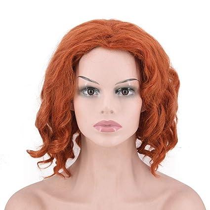 OKMIJNBH Peluca Halloween Mujer Corto Cosplay Wig-Liga De ...