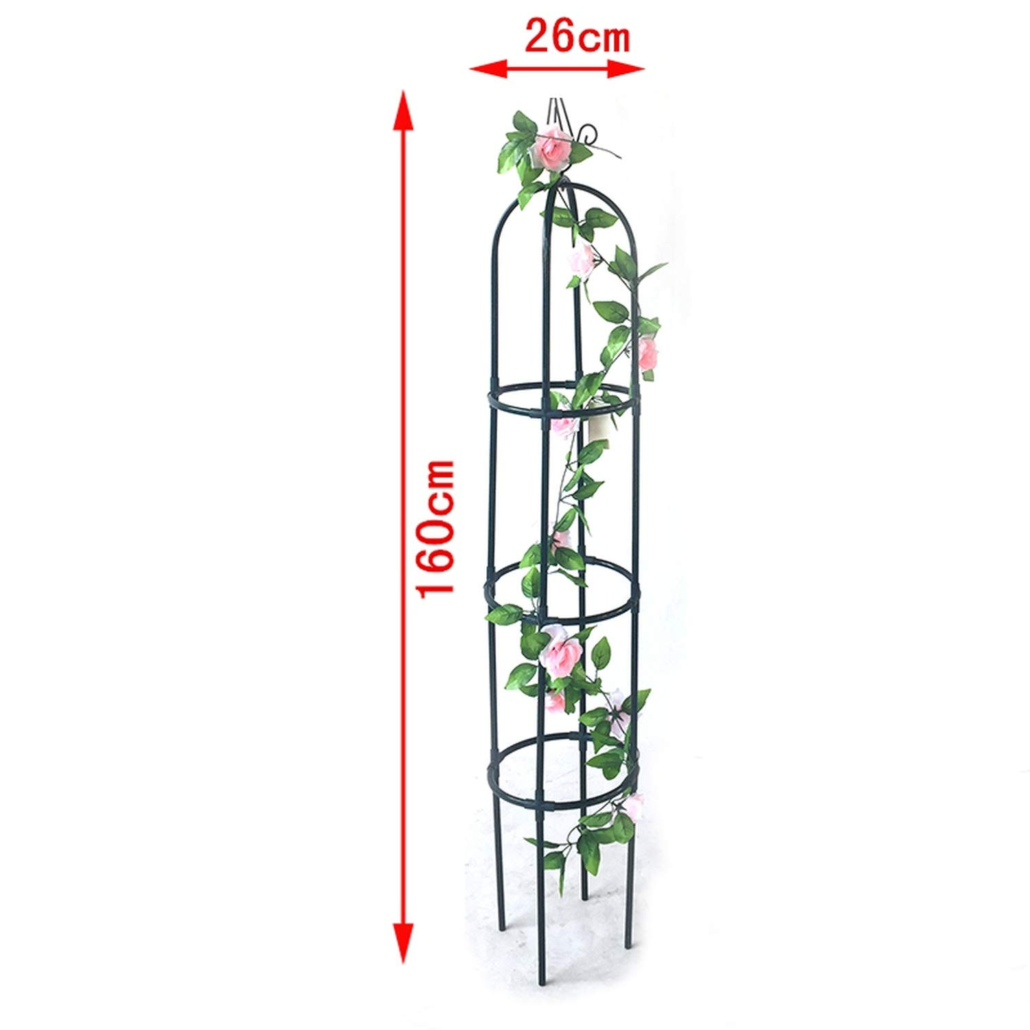 63 inch Garden Plant Trellis Metal Trellis Flower Support for Climbing Vines and Plants Green